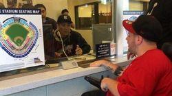 ヤンキース田中将大、チケットの売り子になる(画像)