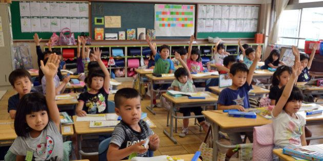 THIS IMAGE IS PART OF A PHOTO PACKAGE ON CHILDREN GOING TO SCHOOL AROUND THE WORLDSix-year-old Japanese...