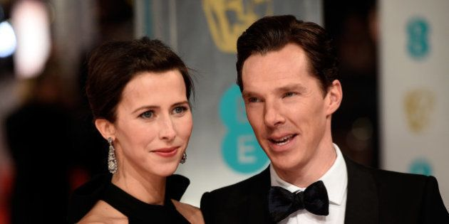 LONDON, ENGLAND - FEBRUARY 08: Sophie Hunter and Benedict Cumberbatch attend the EE British Academy Film...