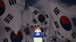 慰安婦問題の早期解決を日本に求める 韓国・朴槿恵大統領、解放記念日に演説