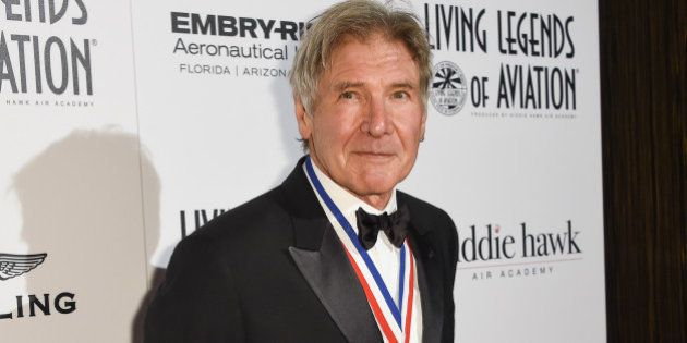 Harrison Ford attends the 12th Annual Living Legends of Aviation Awards at The Beverly Hilton Hotel on...