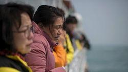 セウォル号引き揚げ「なるべく早く」、韓国大統領が事故1年で