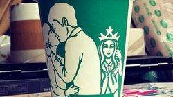 スタバの紙カップ、女神ロゴをアレンジしたらこうなった【画像】