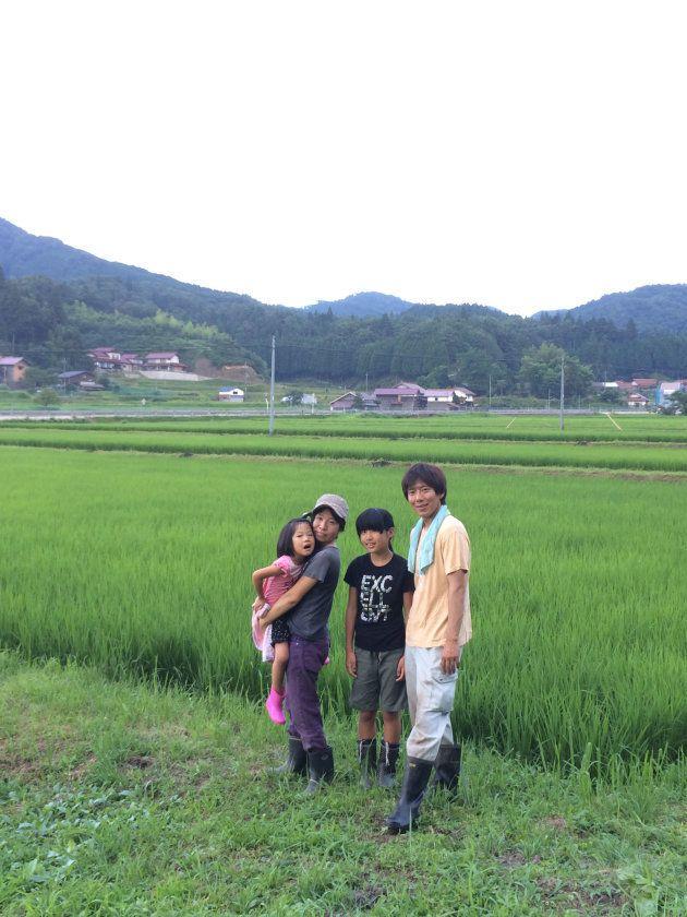 2012年に神戸から島根県飯南町に移住した中野さん一家