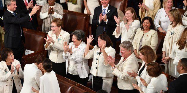 白を着用する女性議員 2019年2月の一般教書演説にて