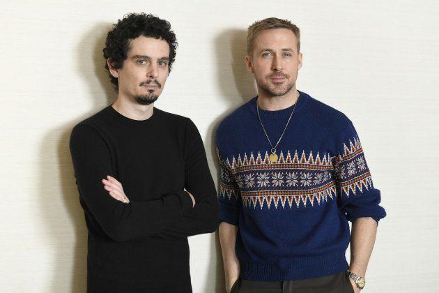 インタビューに応じたデミアン・チャゼル監督(左)とライアン・ゴズリングさん(Photo:Kazuhiko