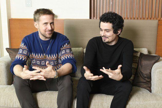 インタビューに応じたライアン・ゴズリングさん(左)とデミアン・チャゼル監督(Photo:Kazuhiko