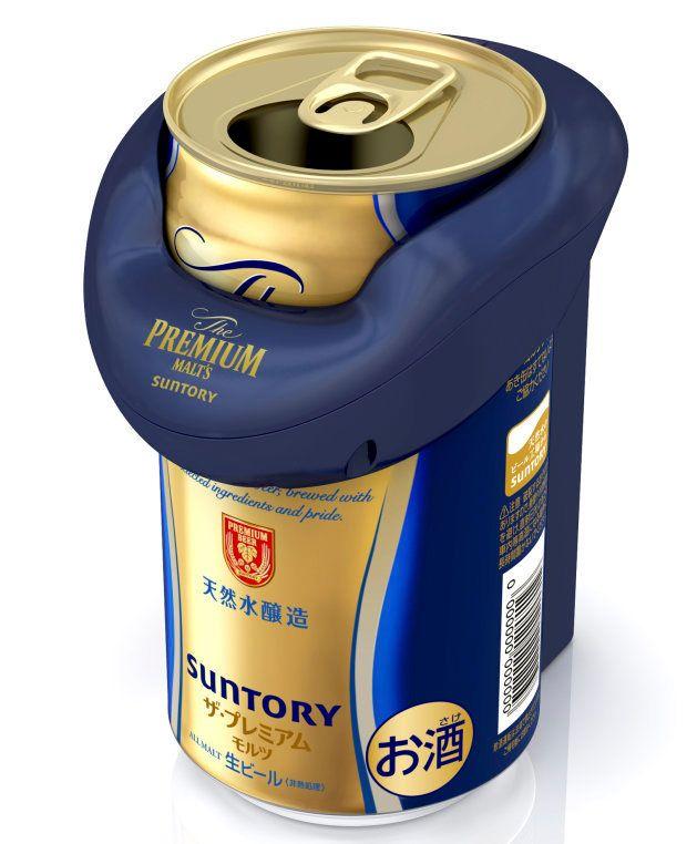 サントリーが開発した缶を振動させる機械
