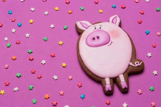 ブタの形のクッキー