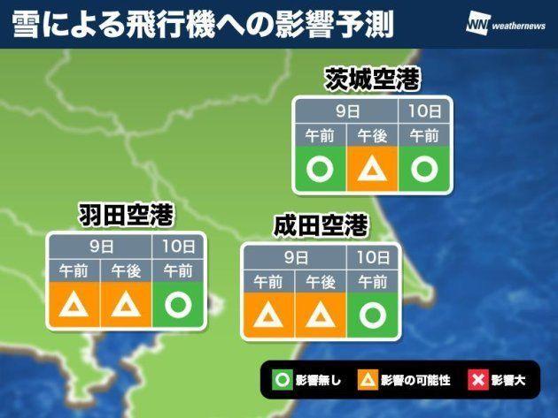 三連休初日、9日は首都圏で雪 交通機関への影響は?