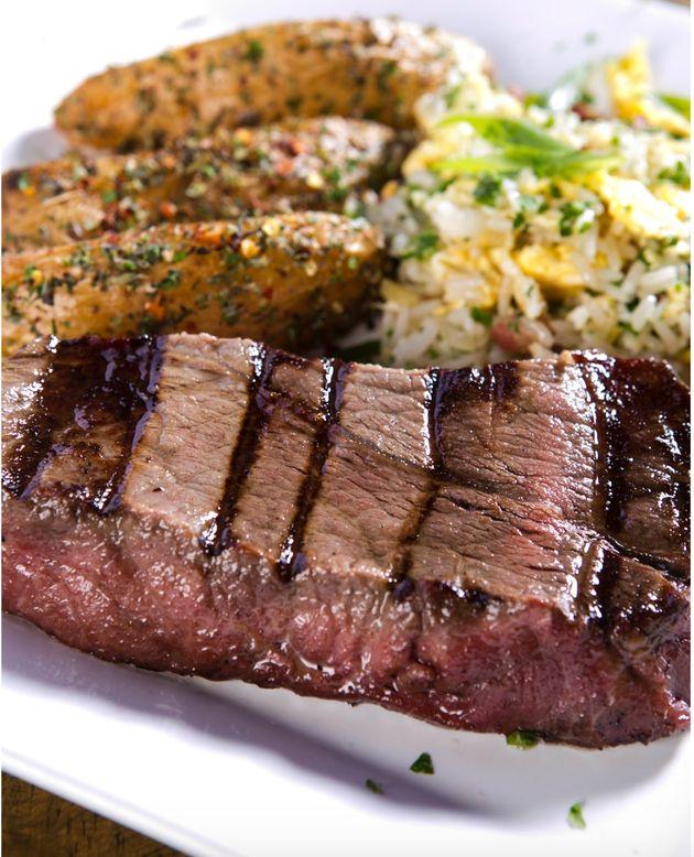 Baby beef servido no restaurante