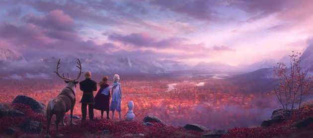 The closing shot of the Frozen 2