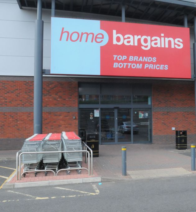 The Home Bargains store in Worcester where a three-year-old boy had acid squirted in his