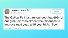Donald Trump Uses The Number 69 In A Tweet, The Inevitable Happens