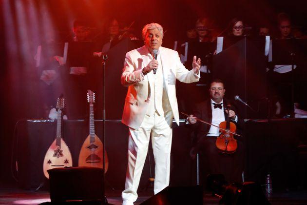 Enrico Macias en concert pour ses 80 ans à L'Olympia, le 9 février 2019 (Paris,