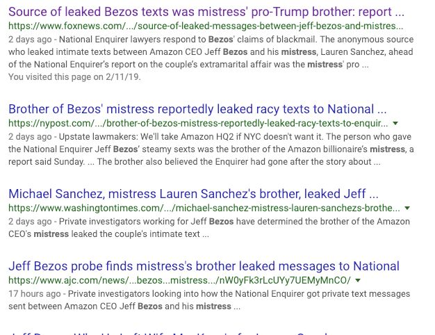 A Google search on Wednesday turned up a bunch of headlines with the M word.