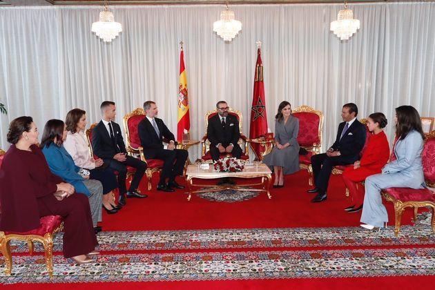 Arrivée au Maroc du roi Felipe VI d'Espagne et de la reine Letizia