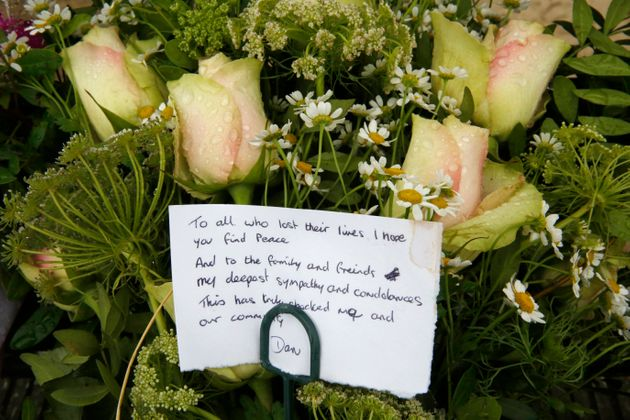A tribute left at the scene of the crash in 2015.