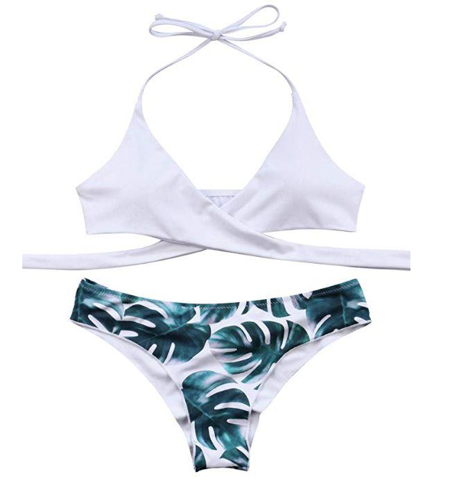 d8431c3bbb Amazon. MOOSKINI Womens Padded Push-up Bikini Set Bathing Suits Two Pieces  Swimsuit Black