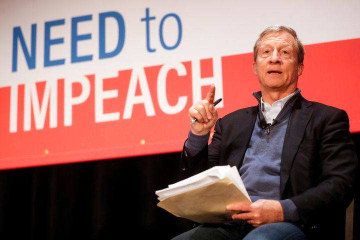 Billionaire Tom Steyer plans to spend as much as $90 million to advocate for Trump's impeachment.