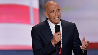 Tom Barrack, CEO of Colony Capital speaks during the final day of the Republican National Convention in Cleveland, Thursday, July 21, 2016. (AP Photo/J. Scott Applewhite)