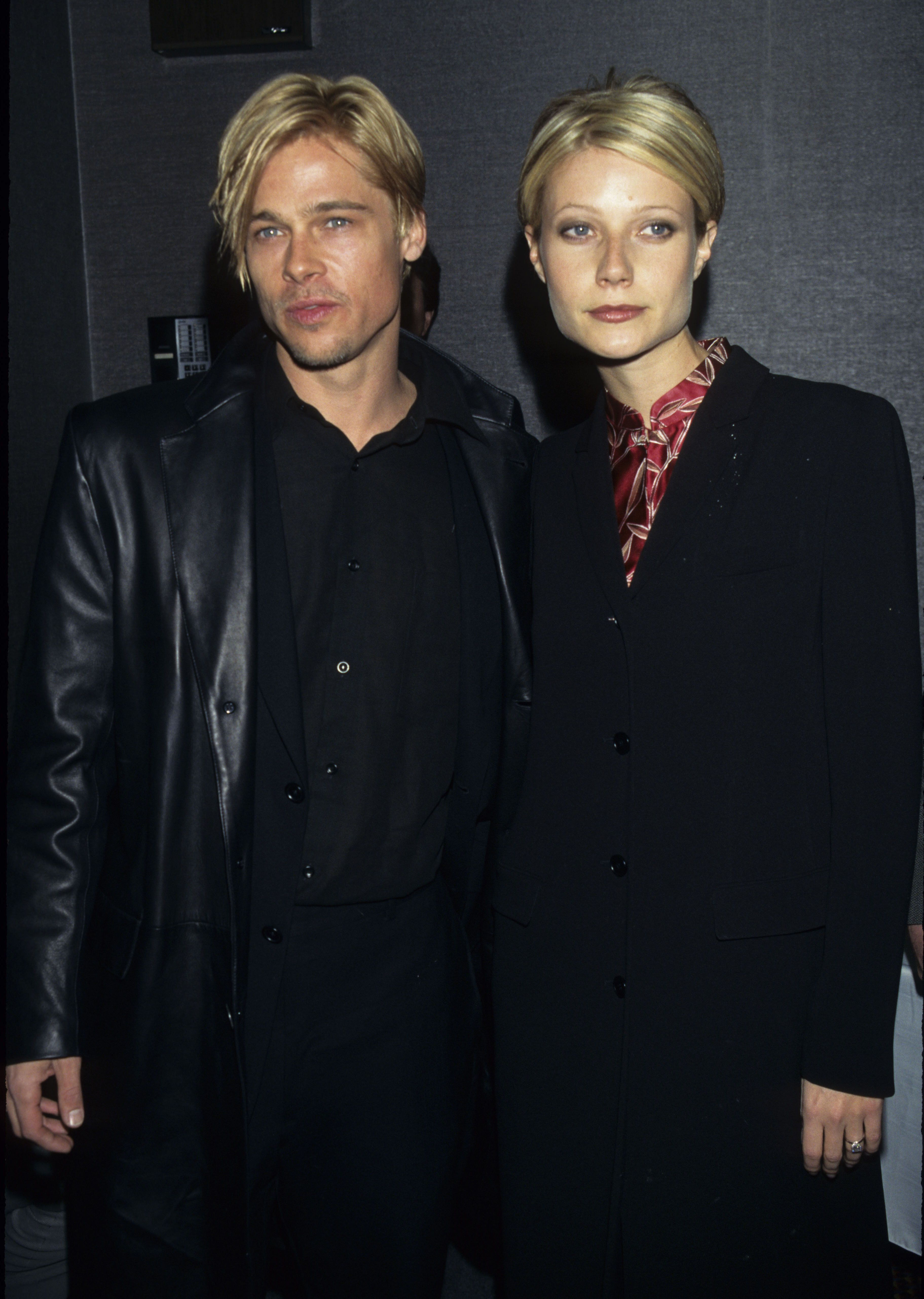 Brad Pitt and Gwyneth Paltrow during 'The Devil's Own' Premiere at Cinema One in New York City, New York, United States. (Photo by Ke.Mazur/WireImage)