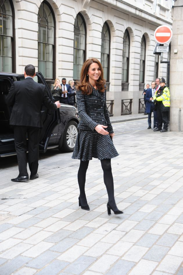 The Duchess of Cambridge, the former Kate Middleton, arrives for a Mental Health in Education