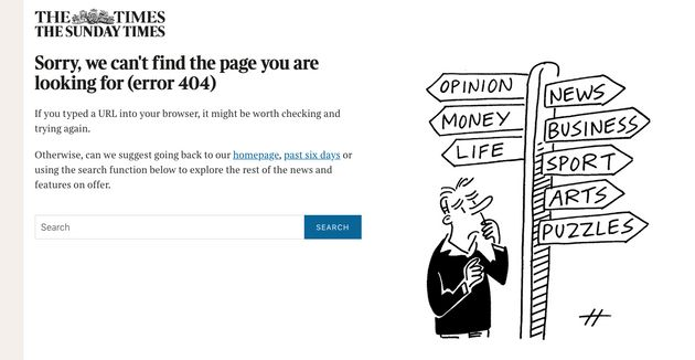 The Times website crashed earlier on Thursday