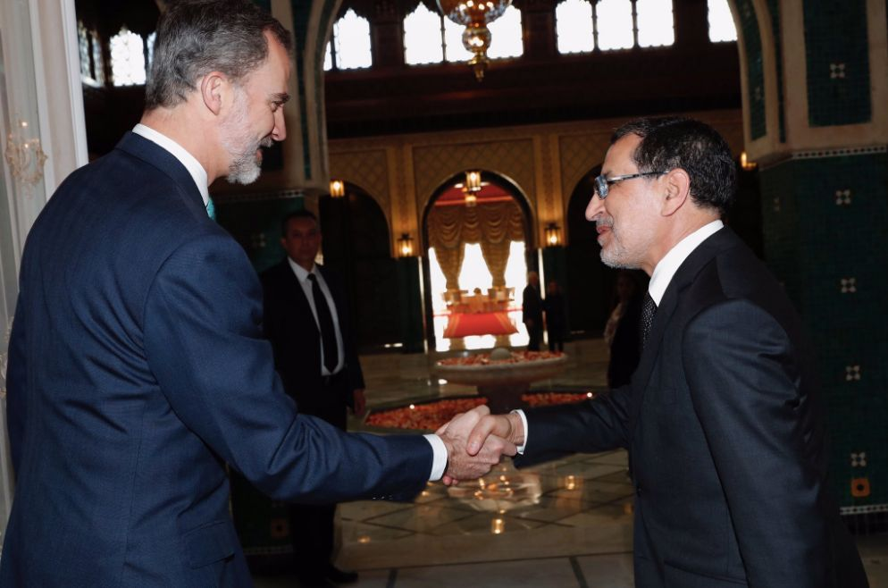Le chef du gouvernement Saad-Eddine El Othmani a reçu le roi d'Espagne Felipe