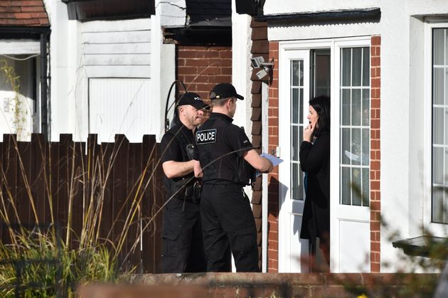 Police talk to local residents in Cowick