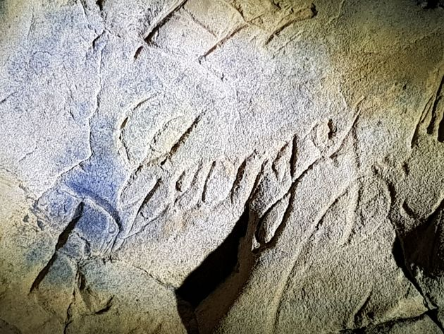 The marks were previously thought to have been graffiti from the time before the caves were shut