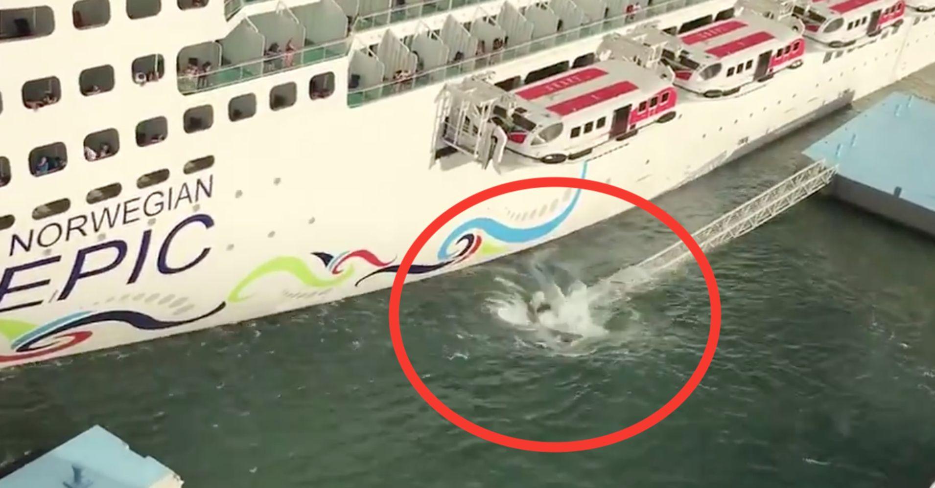 Norwegian Cruise Line Ship Crashes Into Port In San Juan