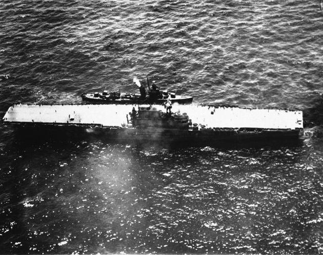 Ανακαλύφθηκε το ναυάγιο του USS Hornet, ενός από τα ιστορικότερα αεροπλανοφόρα του Β' Παγκοσμίου