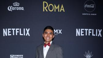 MEXICO CITY, MEXICO - NOVEMBER 21: Jorge Antonio Guerrero poses during the red carpet and screening of Alfonso Cuarón and Netflix film 'Roma' at Cineteca National on November 21, 2018 in Mexico City, Mexico. (Photo by Victor Chavez/Getty Images for NETFLIX)