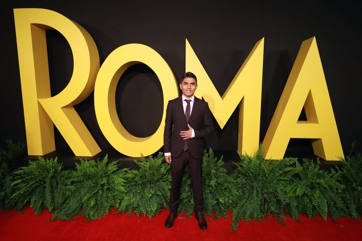 "Actor Jorge Antonio Guerrero Martínez at the Mexico City premiere of ""Roma"" in December."