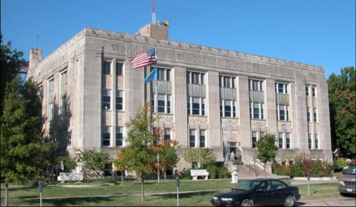 The Cleveland County Courthouse in Norman, Oklahoma, is where an opioid case, Oklahoma v. Purdue Pharma, is scheduled for tri
