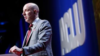 WASHINGTON, DC - JUNE 11:  ACLU's Anthony D. Romero speaks at the 2018 ACLU National Conference at the Washington Convention Center on June 11, 2018 in Washington, DC.  (Photo by Paul Morigi/Getty Images)