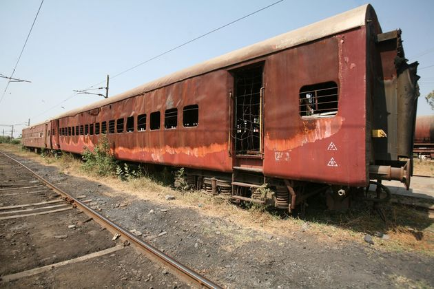 Coach S6 of the Sabarmati Express, which was torched at Signal Falia near Godhra railway station on February...