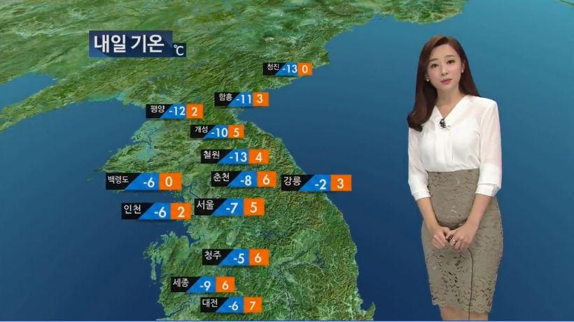 KBS 9시 뉴스가 전날 날씨예보를