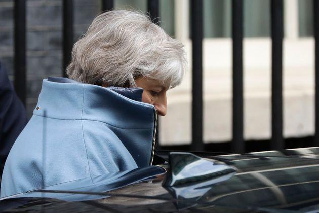 Die britische Premierministerin Theresa May nach der desaströsen
