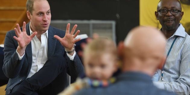 Prince William, Duke of Cambridge visits the Future Men Fathers Development Programme in London on Feb. 14, 2019.