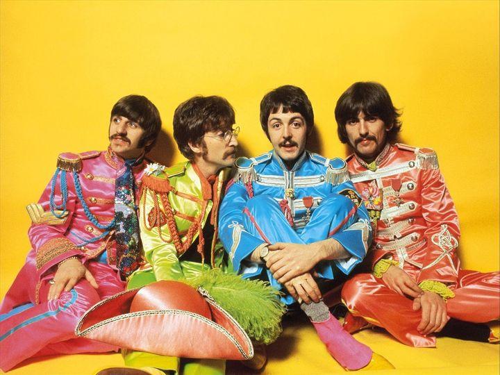 Ringo Starr, John Lennon, Paul McCartney and George Harrison (L-R).