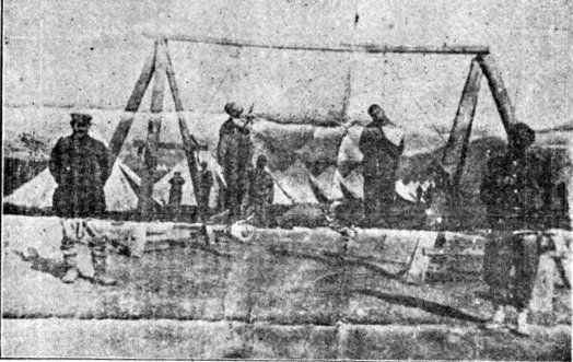 Armenians being hanged during the Armenian Genocide by German and Turkish