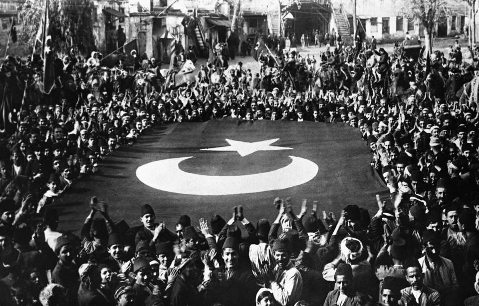 Ataturk Inspires Turkish NationalismTurkish nationalists celebrate following their defeat of the Greeks...