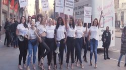 Size Diversity Protest At London Fashion