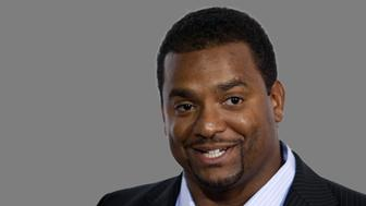 Alfonso Ribeiro headshot, as actor, graphic element on gray