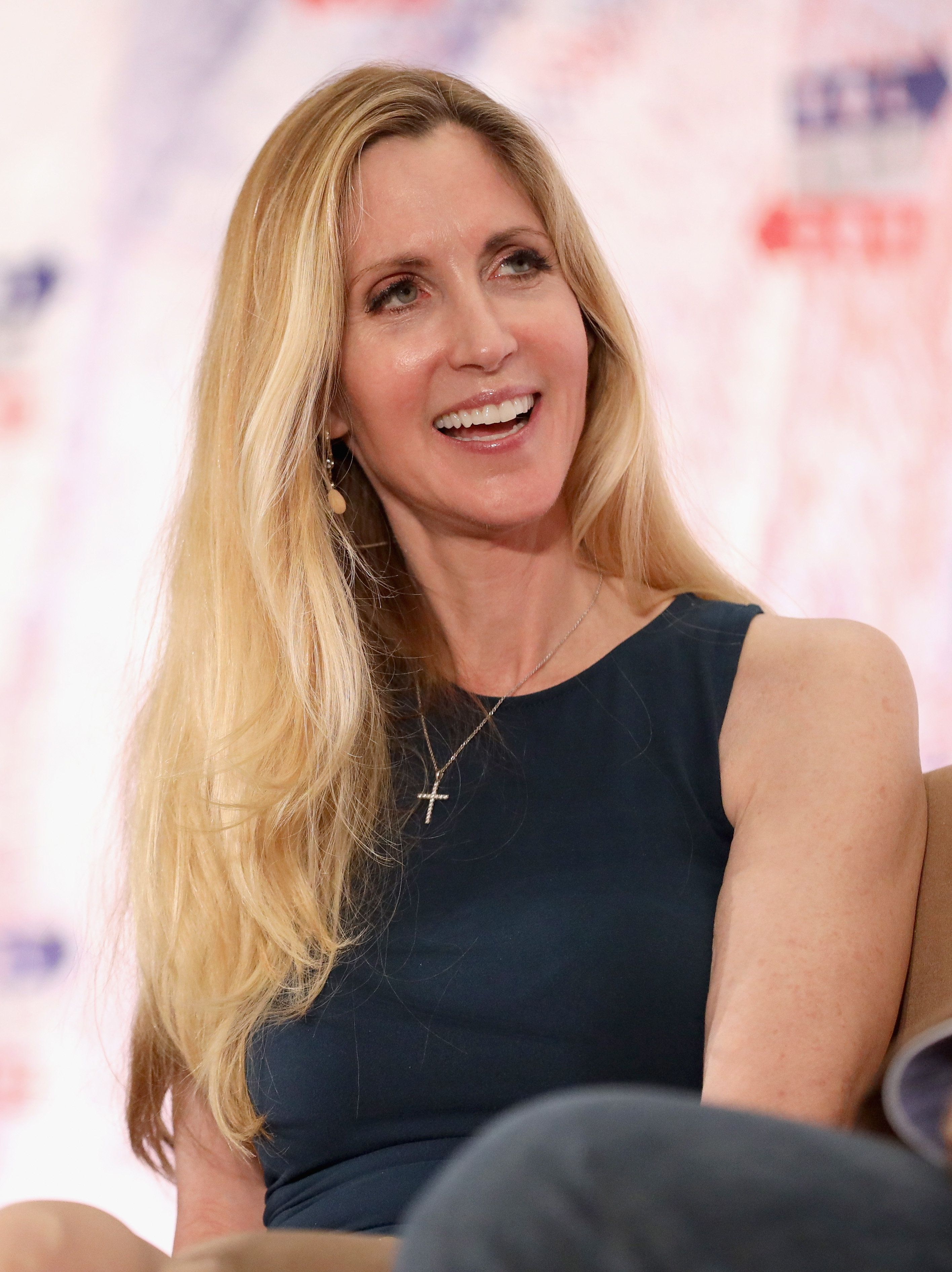 LOS ANGELES, CA - OCTOBER 20:  Ann Coulter speaks onstage during Politicon 2018 at Los Angeles Convention Center on October 20, 2018 in Los Angeles, California.  (Photo by Rich Polk/Getty Images for Politicon)