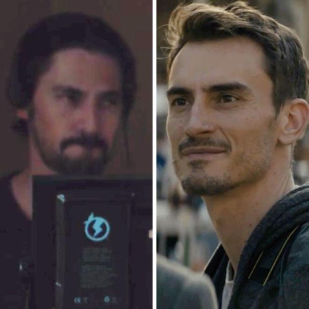 Left, script supervisor. Right: Lenny from Season