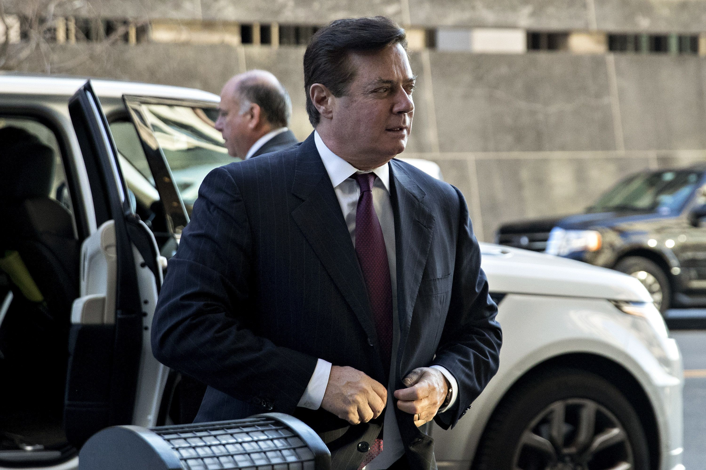 FILE: Paul Manafort, former campaign manager for Donald Trump, arrives at the U.S. Courthouse for a status conference in Washington, D.C., U.S., on Monday, Dec. 11, 2017. Sunday, January 20, 2019, marks the second anniversary of U.S. President Donald Trump's inauguration. Our editors select the best archive images looking back over Trumps second year in office. Photographer: Andrew Harrer/Bloomberg via Getty Images