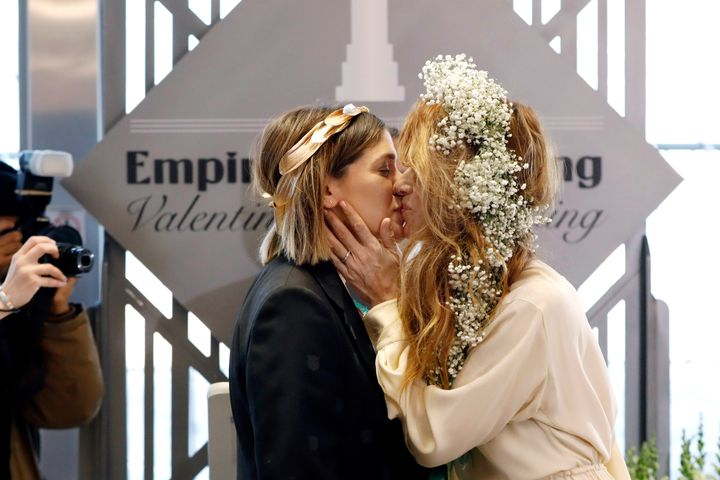 The Empire State Building hosted its first same-sex Valentine's Day wedding in 2012, after New York's legalization of gay mar